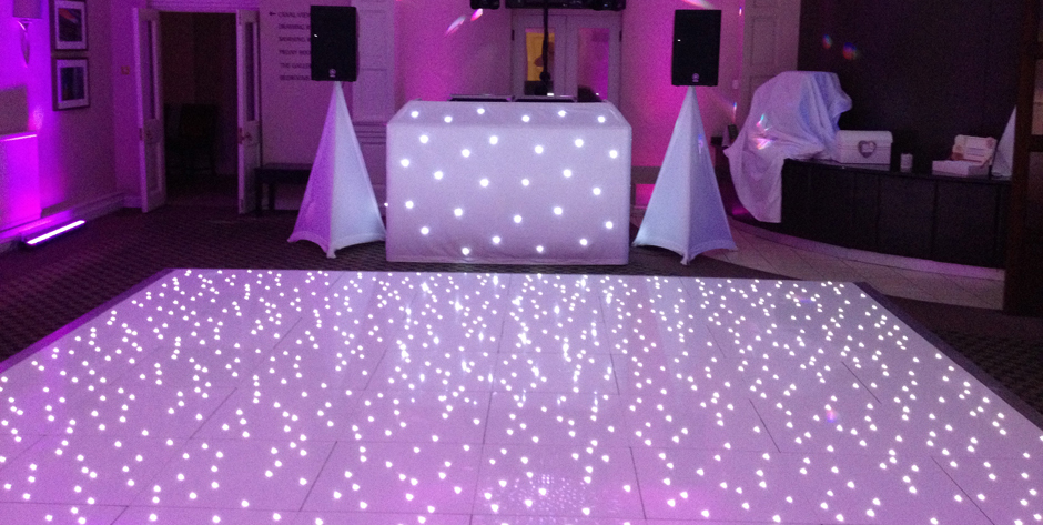 Led Star Lit Dance Floor Chairman Hire Event Wedding Company Al Packages